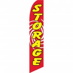 Storage Red Swirl Swooper Flag