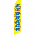 Storage Yellow Red Swirls Swooper Flag