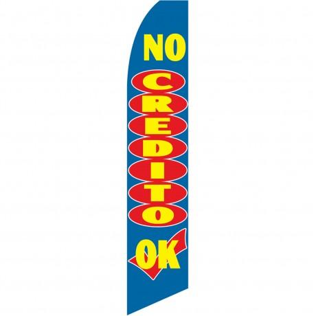 No Credito OK Swooper Flag