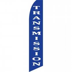 Transmission Blue Swooper Flag