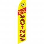 Huge Savings Yellow Swooper Flag