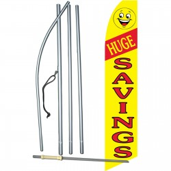 Huge Savings Yellow Swooper Flag Bundle