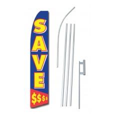 Save $ Blue Swooper Flag Bundle