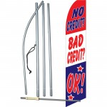 No Credit Bad Credit OK Swooper Flag Bundle