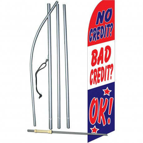 No Credit Bad Credit OK Swooper Flag Bundle
