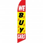 We Buy Cars $ Swooper Flag