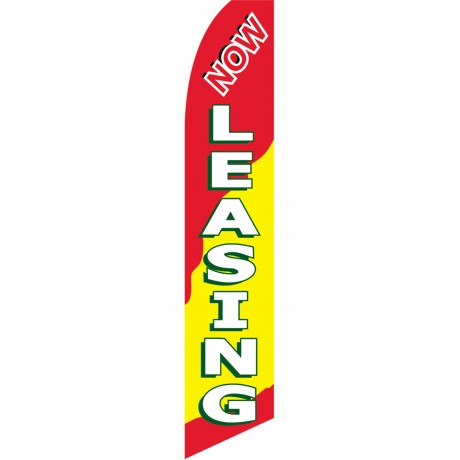 Now Leasing Red, Yellow, Green Swooper Flag