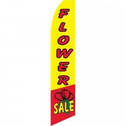 Flower Sale Yellow Swooper Flag