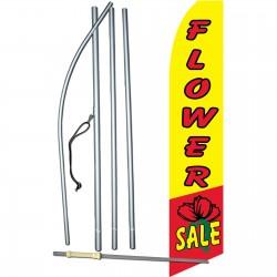 Flower Sale Yellow Swooper Flag Bundle