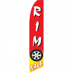 Tire Rim Sale Swooper Flag