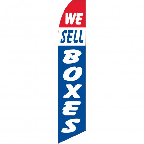 We Sell Boxes Patriotic Swooper Flag