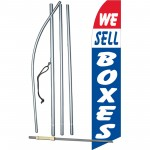 We Sell Boxes R/W/B Swooper Flag Bundle