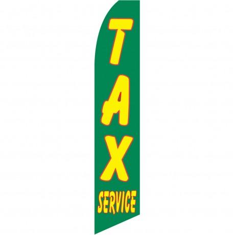 Tax Service Green Swooper Flag