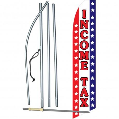 Income Tax Patriotic Stars Swooper Flag Bundle