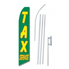 Tax Service Green Swooper Flag Bundle