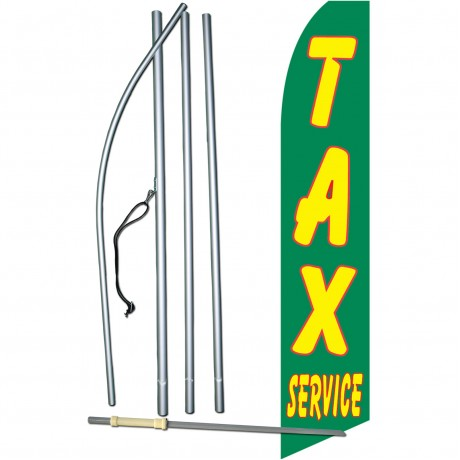 Tax Service Green Swooper Flag Bundle