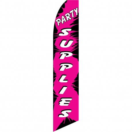 Party Supplies Pink Swooper Flag