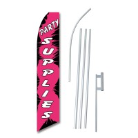Party Supplies Pink Swooper Flag Bundle