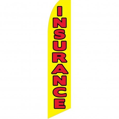 Insurance Yellow Red Swooper Flag