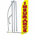 Insurance Yellow Red Swooper Flag Bundle