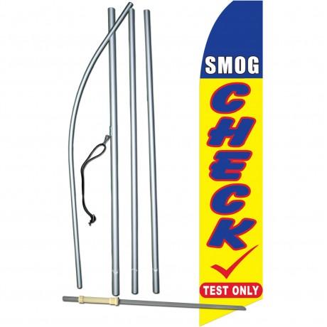 Smog Check Test Swooper Flag Bundle