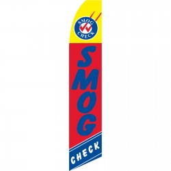 Smog Check Red Swooper Flag