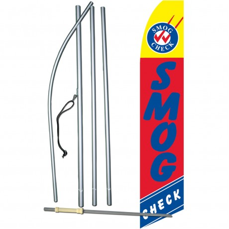 Smog Check Red Swooper Flag Bundle