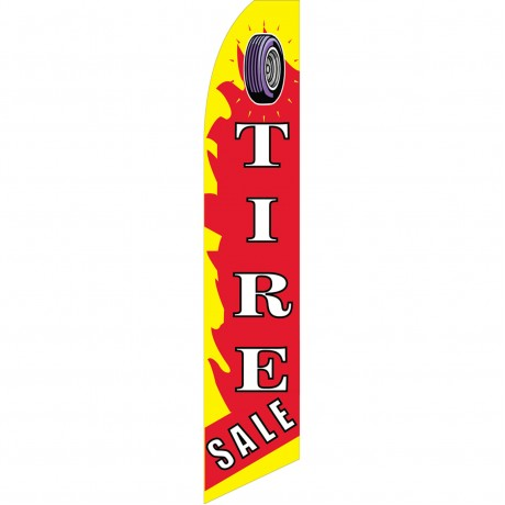 Tire Sale Red Yellow Swooper Flag