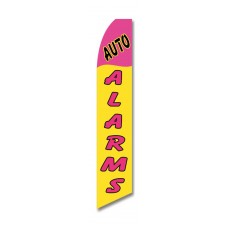 Auto Alarms Yellow Pink Swooper Flag