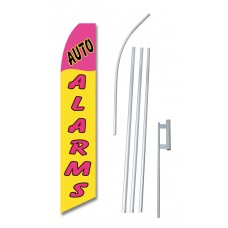 Auto Alarms Yellow Pink Swooper Flag Bundle