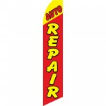 Auto Repair Red Yellow Swooper Flag