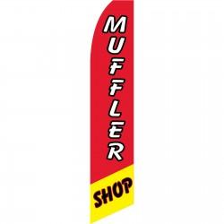 Muffler Shop Red Swooper Flag