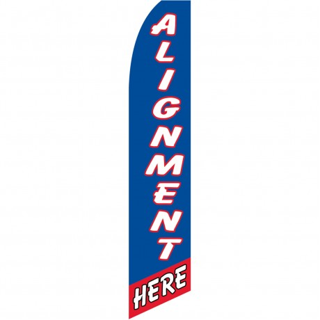 Alignment Here Blue Swooper Flag