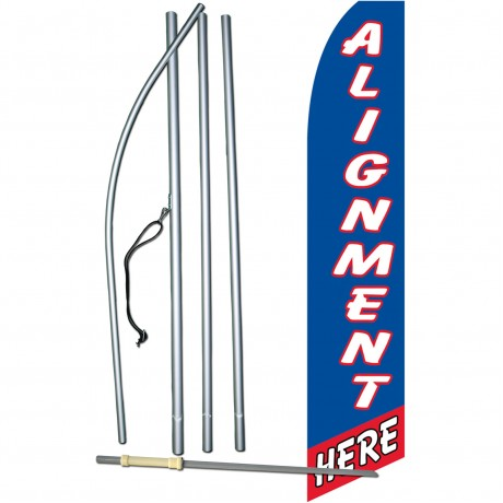 Alignment Here Blue Swooper Flag Bundle