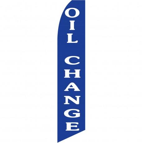 Oil Change Blue Swooper Flag
