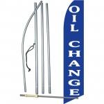 Oil Change Blue Swooper Flag Bundle