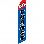 Oil Change Blue Red Swooper Flag