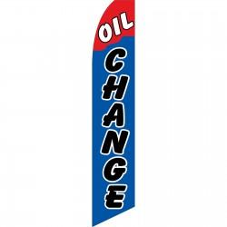 Oil Change Blue Red Swooper Flag