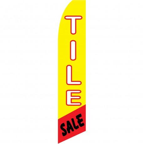 Tile Sale Yellow Swooper Flag