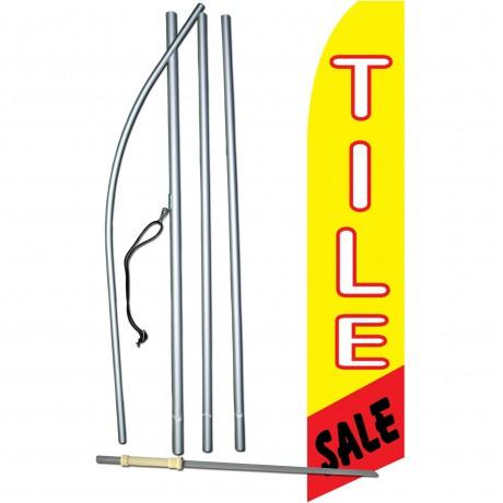 Tile Sale Yellow Swooper Flag Bundle
