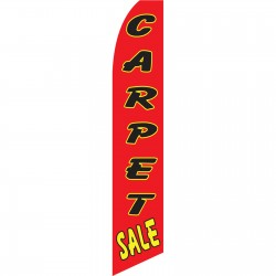 Carpet Sale Red Black Swooper Flag