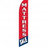 Mattress Sale Red Blue Swooper Flag