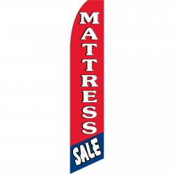 Mattress Sale Red Blue Swooper Flag