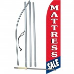 Mattress Sale Red/Blue Swooper Flag Bundle