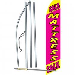 Mattress Sale Pink Yellow Swooper Flag Bundle