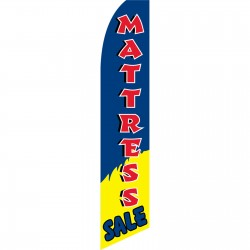 Mattress Sale Blue Yellow Swooper Flag