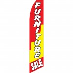 Furniture Sale Red Yellow Wavy Swooper Flag