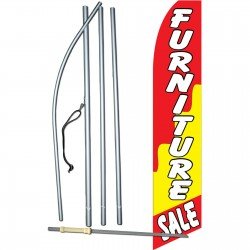 Furniture Sale Red/Yellow Swooper Flag Bundle