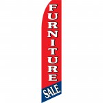 Furniture Sale Red Blue Swooper Flag