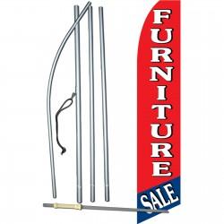 Furniture Sale R/B Swooper Flag Bundle